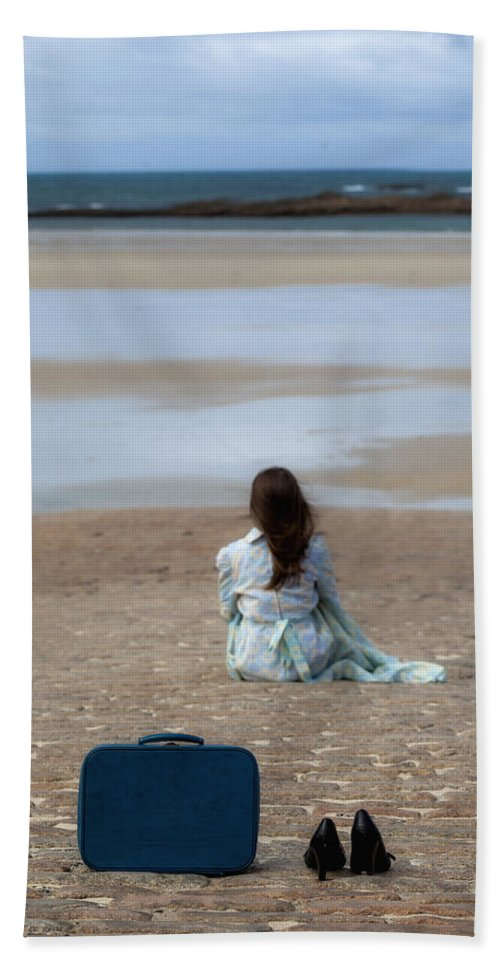 Woman Bath Sheet featuring the photograph Waiting by Joana Kruse