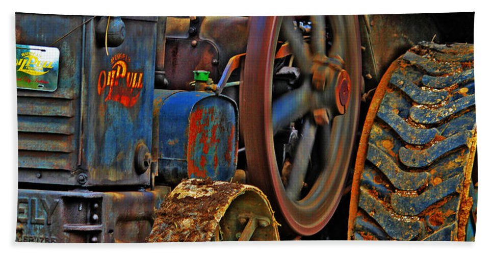 Tractor Hand Towel featuring the photograph Wheels Of Time by Rowana Ray