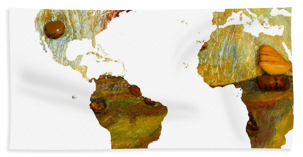 Augusta Stylianou Bath Sheet featuring the digital art Abstract Map by Augusta Stylianou