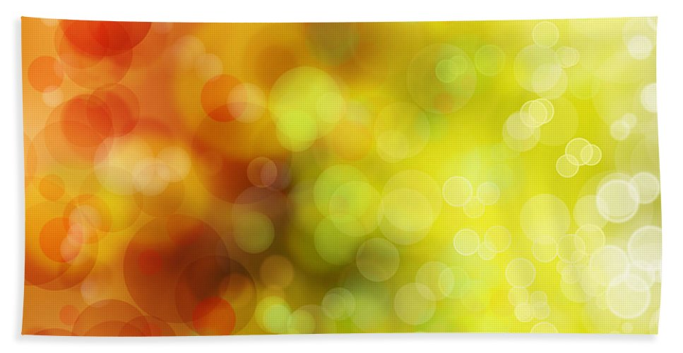 Green Hand Towel featuring the photograph Abstract Background by Les Cunliffe