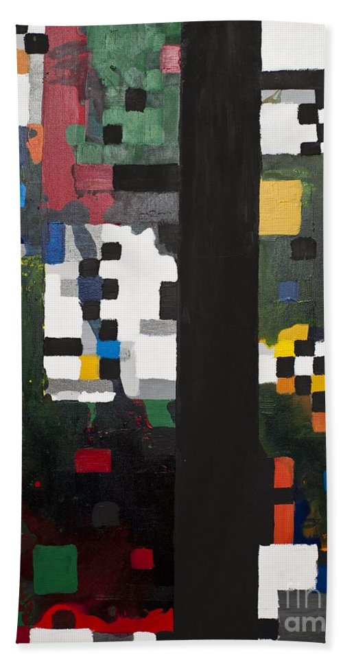 Blocks Hand Towel featuring the painting 86 by Rebecca Weeks Howard