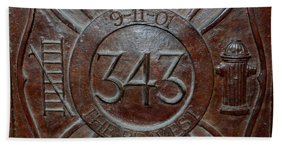 Fdny Hand Towel featuring the photograph 9 11 01 F D N Y 343 by Rob Hans