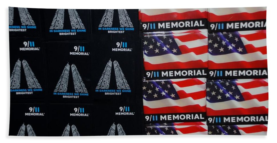 Wtc Hand Towel featuring the photograph 9/11 Memorial For Sale by Rob Hans
