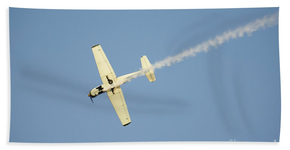 Airplane Hand Towel featuring the photograph Airplane by Mats Silvan