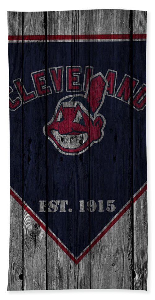 Indians Hand Towel featuring the photograph Cleveland Indians by Joe Hamilton