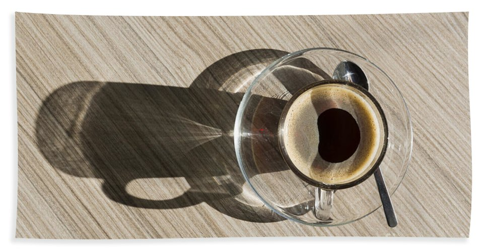 Coffee Bath Sheet featuring the photograph Cup Of Coffee by Mats Silvan