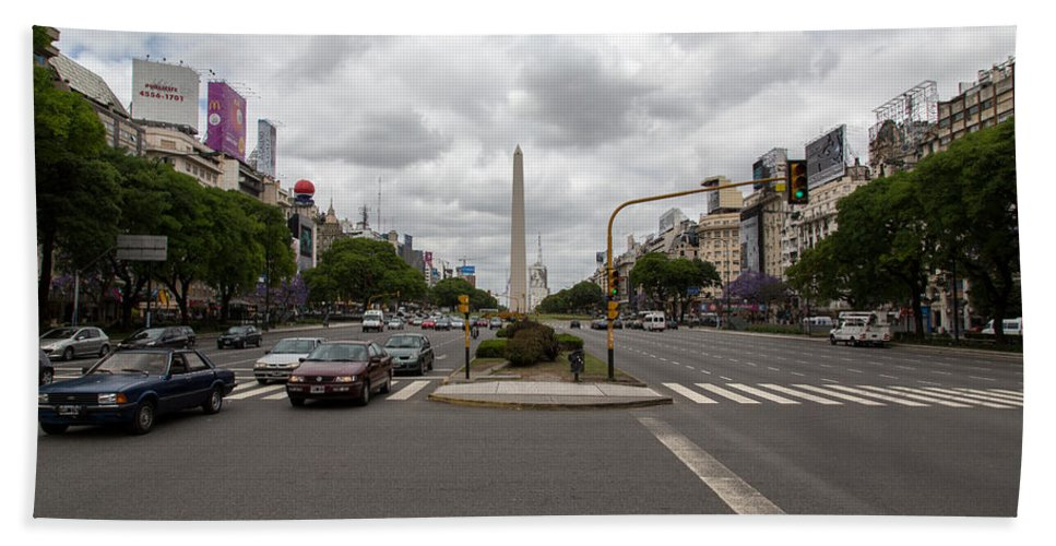 Widest Hand Towel featuring the photograph 9 De Julio by John Daly