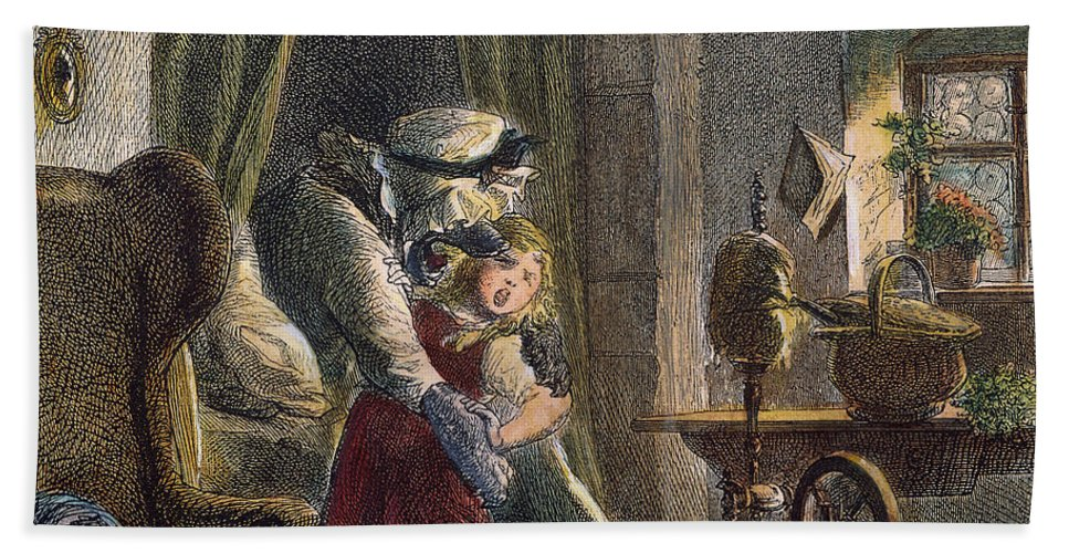 19th Century Bath Sheet featuring the photograph Little Red Riding Hood by Granger