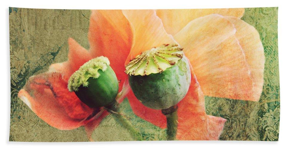 Art Bath Sheet featuring the photograph Poppy by Heike Hultsch