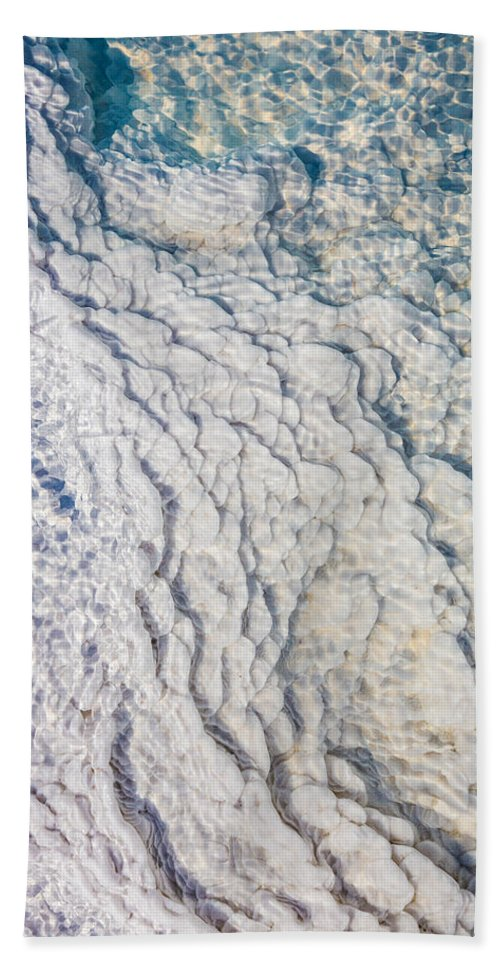 Photography Hand Towel featuring the photograph Silica Deposits In Water By The by Panoramic Images