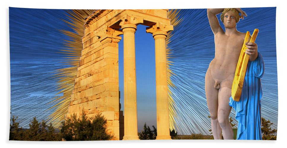 Art Hand Towel featuring the digital art Temple Of Apollo by Augusta Stylianou