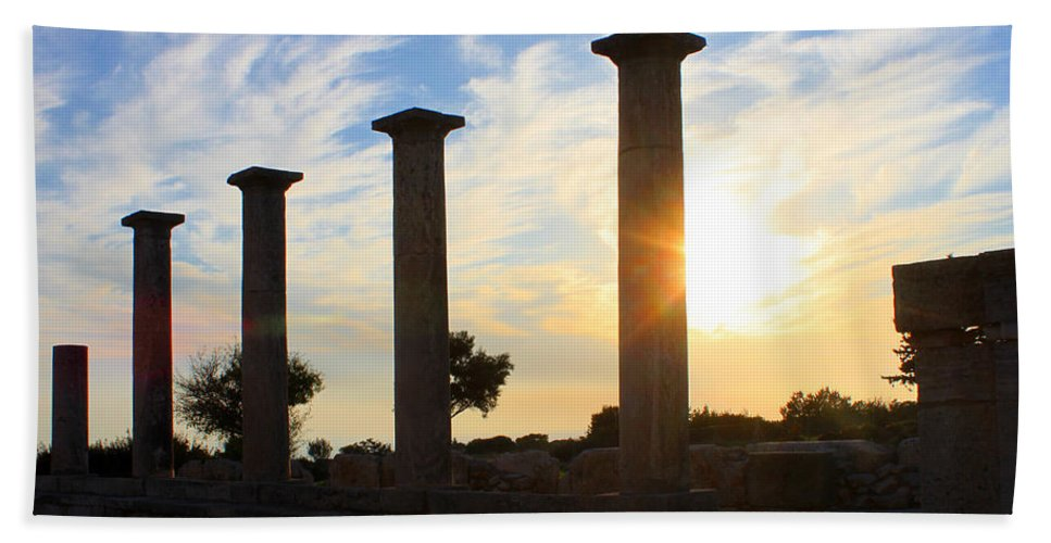 Ancient Hand Towel featuring the photograph Temple Of Apollo Hylates by Augusta Stylianou