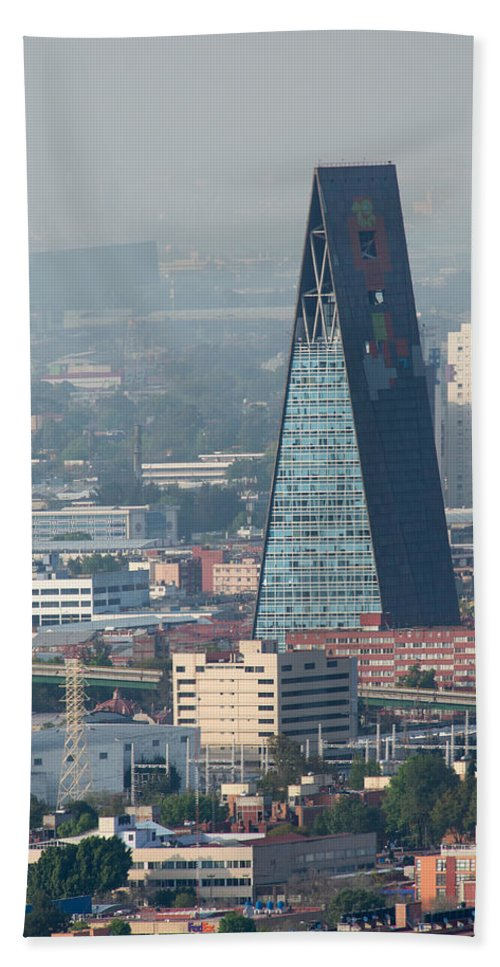 Alameda Central Hand Towel featuring the digital art View From Torre Latinoamerican by Carol Ailles