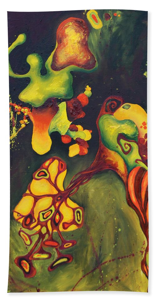 Hand Towel featuring the painting 911 Fruit by Jacqueline DelBrocco