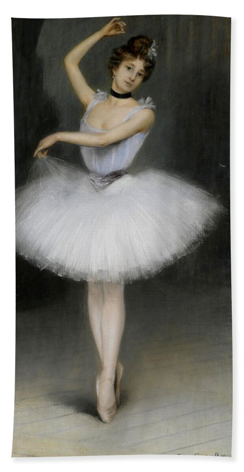Pierre Carrier-belleuse Bath Sheet featuring the painting A Ballerina by Pierre Carrier-Belleuse