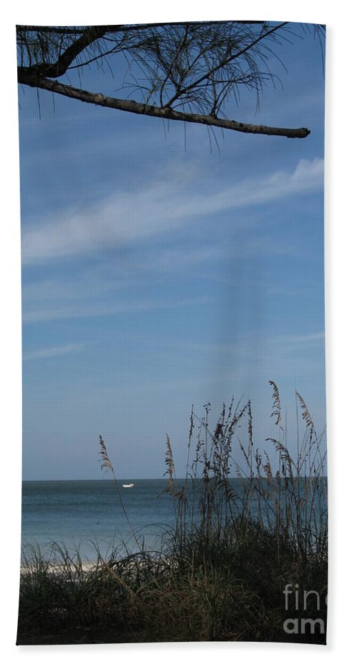 Beach Hand Towel featuring the photograph A Beautiful Day At A Florida Beach by Christiane Schulze Art And Photography