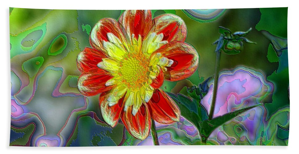 Flowers Hand Towel featuring the photograph A Blooming Smile by Jeff Swan