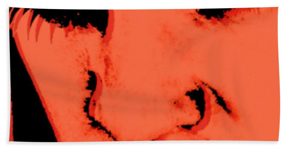 A Clockwork Orange Hand Towel featuring the painting A Clockwork Orange Malcolm Mcdowell by Tony Rubino