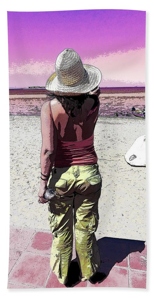 Beach Hand Towel featuring the photograph A Day At The Beach by Anne Mott