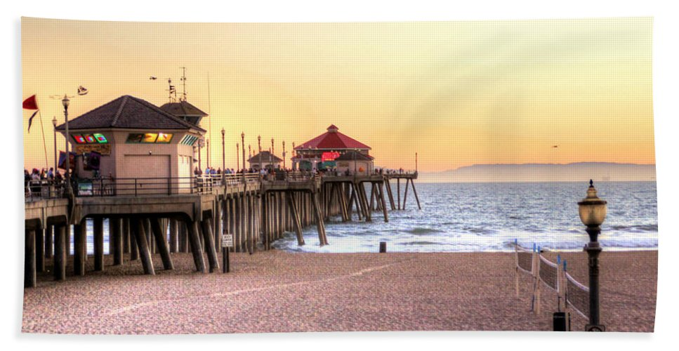 Beach Hand Towel featuring the photograph A Day At The Beach by Debra Farrey