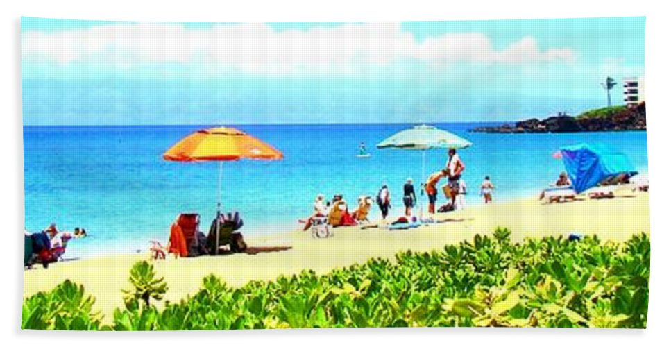Beach Hand Towel featuring the photograph A Day At The Beach by Melinda Baugh