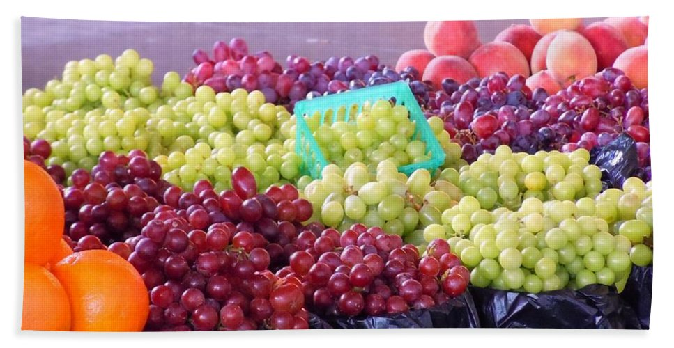 Fruit Hand Towel featuring the photograph A Day At The Market #18 by Robert ONeil