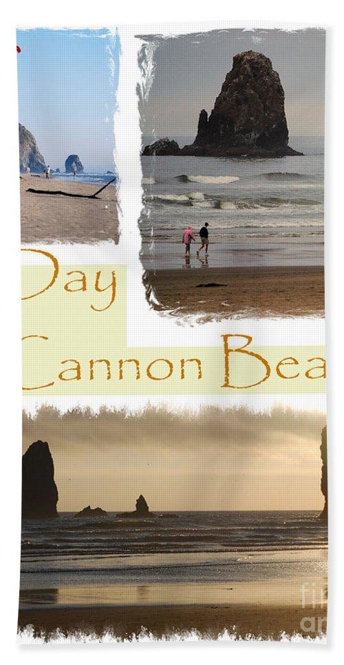 Cannon Beach Bath Sheet featuring the photograph A Day On Cannon Beach by Sharon Elliott