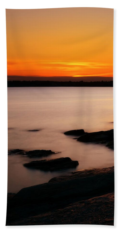 Rhode Island Hand Towel featuring the photograph A Day's End by Lourry Legarde
