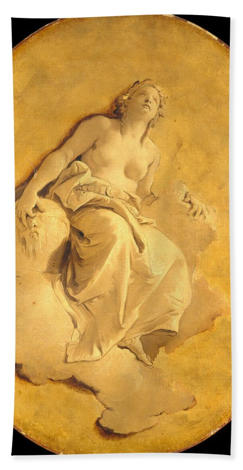 Giovanni Battista Tiepolo Hand Towel featuring the painting A Female Allegorical Figure by Giovanni Battista Tiepolo