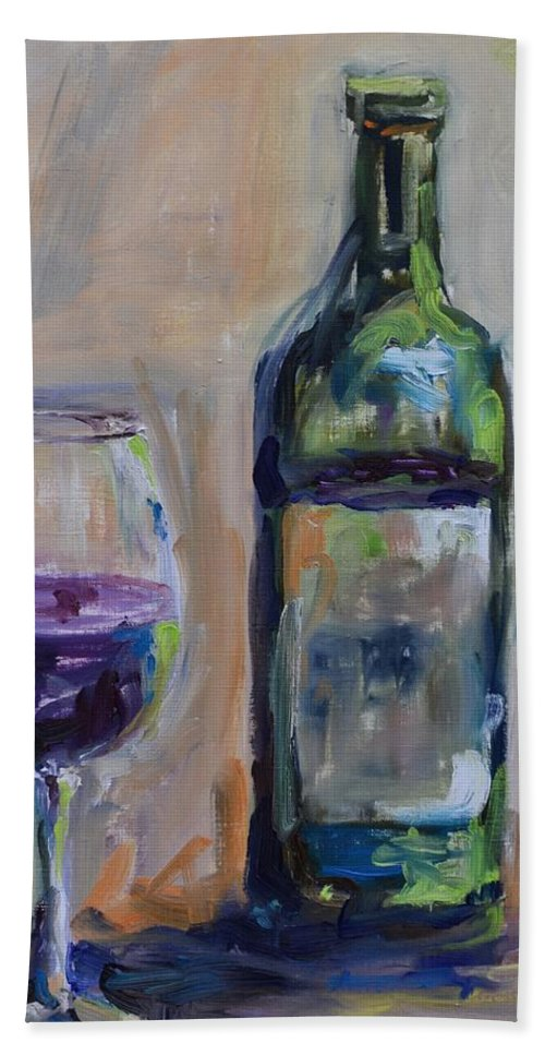 Wine Hand Towel featuring the painting A Good Pour by Donna Tuten