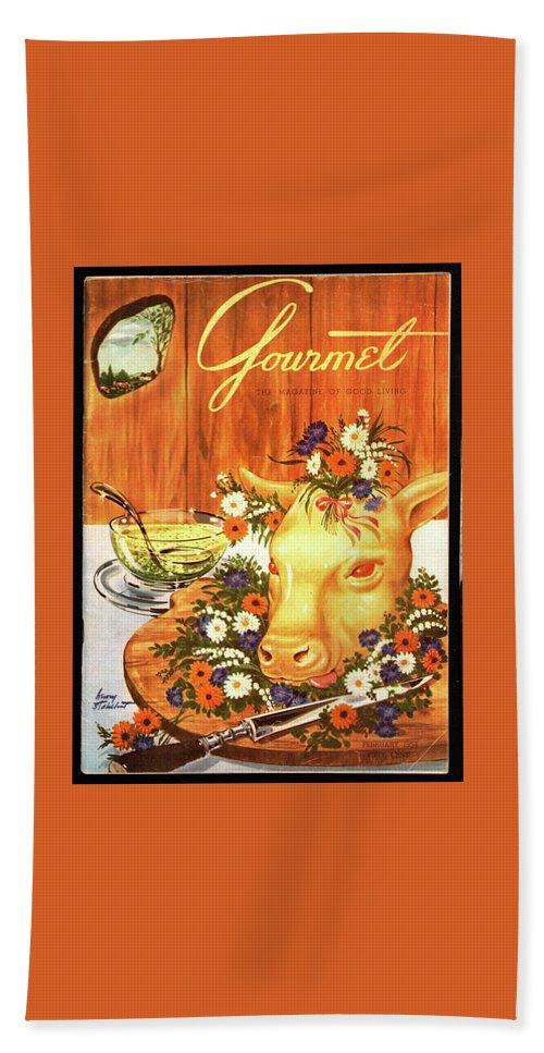 A Gourmet Cover Of Tete De Veau Bath Towel