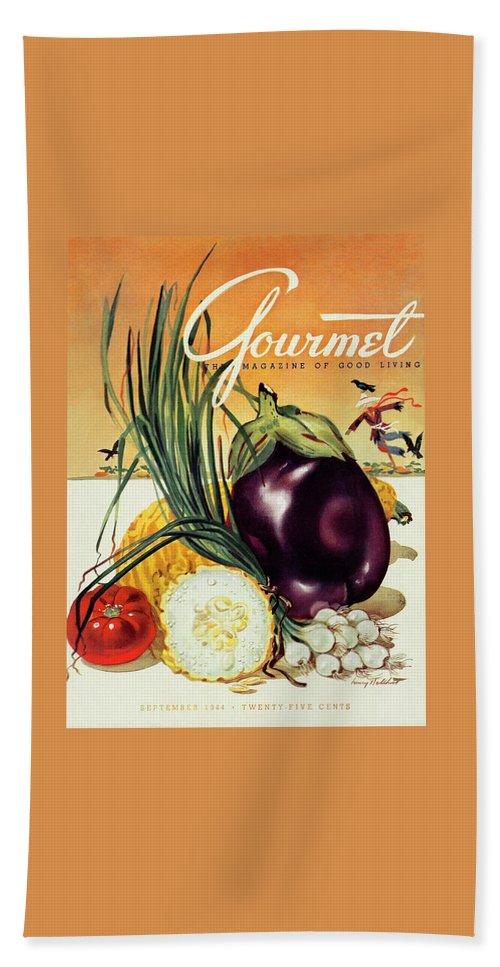 A Gourmet Cover Of Vegetables Bath Towel