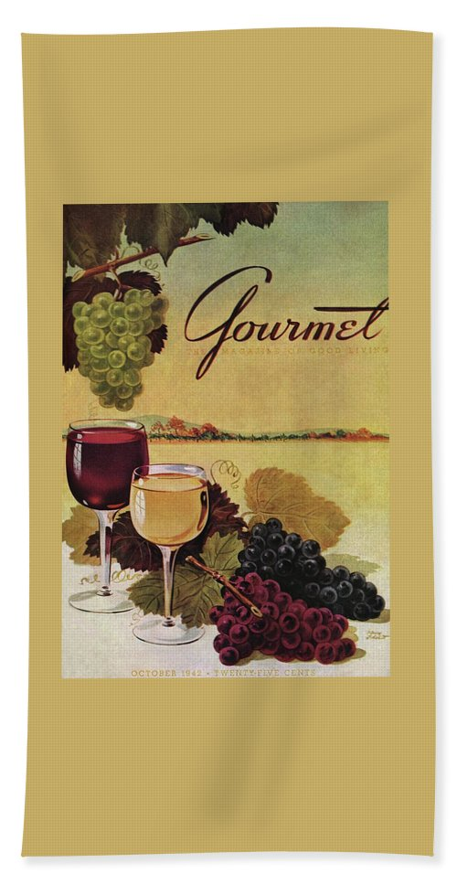 Exterior Bath Towel featuring the photograph A Gourmet Cover Of Wine by Henry Stahlhut