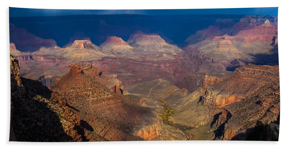 Arizona Hand Towel featuring the photograph A Grand View by Ed Gleichman