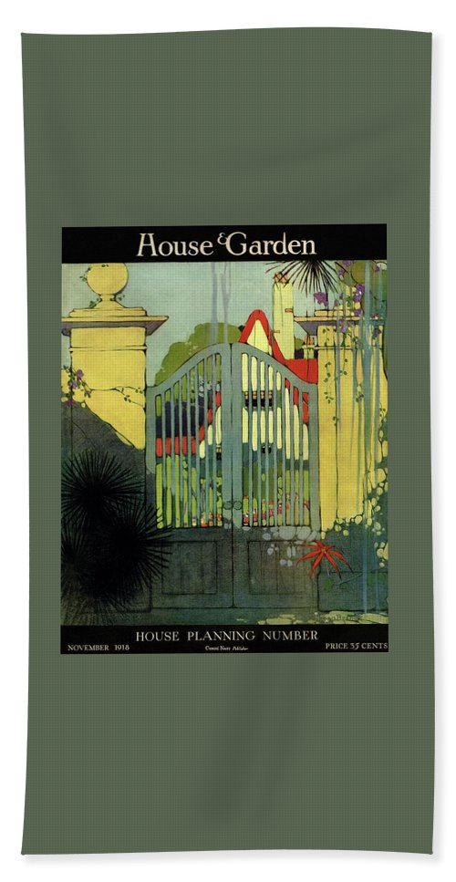 A House And Garden Cover Of A Gate Bath Towel