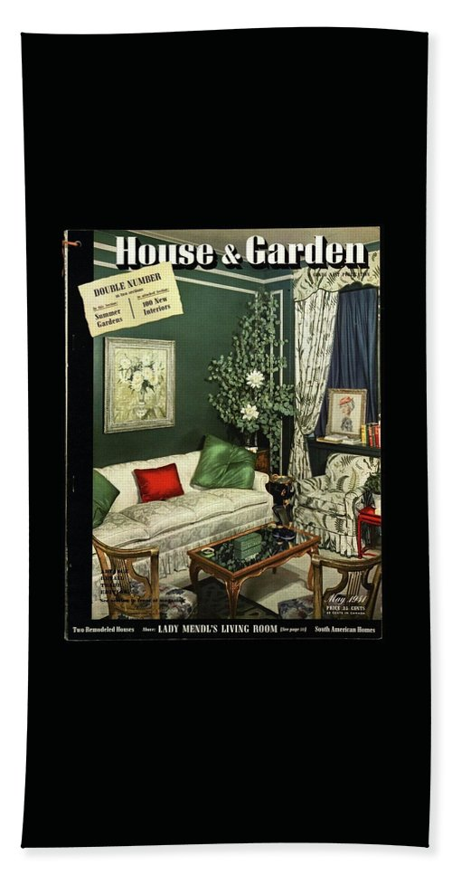Home Accessories Bath Towel featuring the photograph A House And Garden Cover Of Lady Mendl's Sitting by Urban Weis
