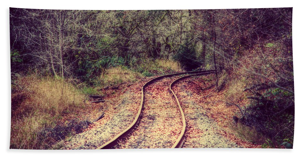 Railroad Hand Towel featuring the photograph A Journey Of Dreams by Melanie Lankford Photography