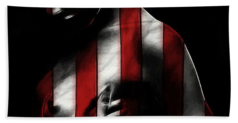 Hand Towel featuring the painting A Love Called Liberty by Steve K