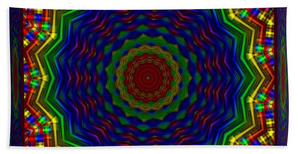 Kaleidoscopes Hand Towel featuring the digital art A Love Of Kaleidoscopes by Mario Carini
