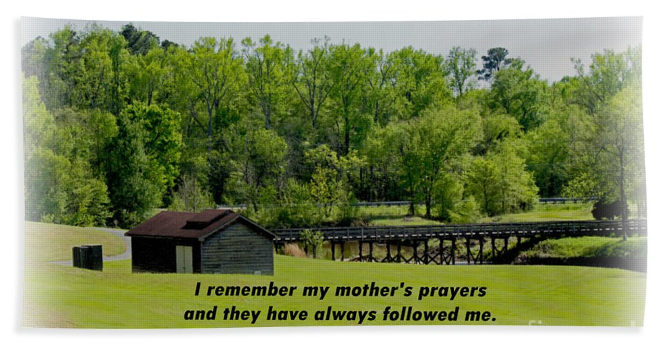Sandra Clark Hand Towel featuring the photograph A Mother's Prayer by Sandra Clark