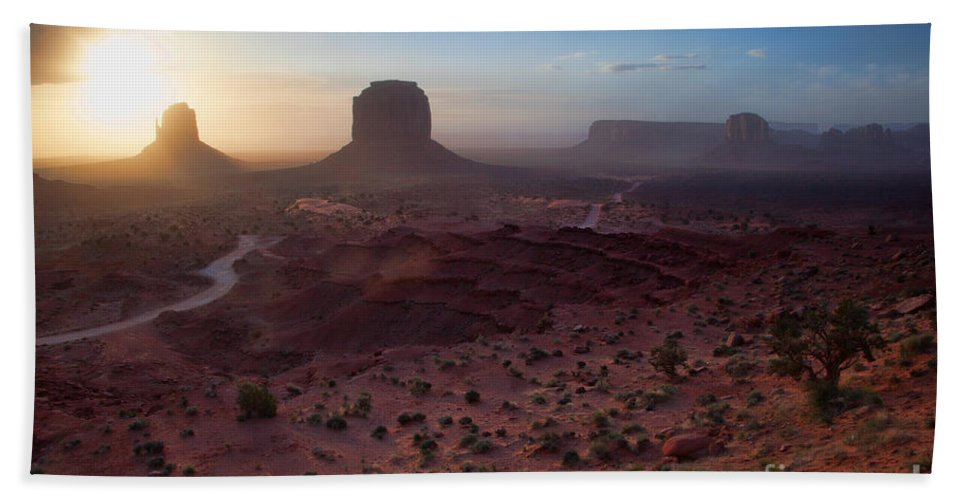 Utah Hand Towel featuring the photograph A New Beginning by Jim Garrison