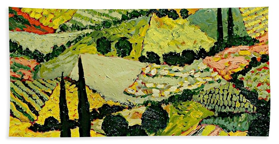 Landscape Hand Towel featuring the painting A New Season by Allan P Friedlander