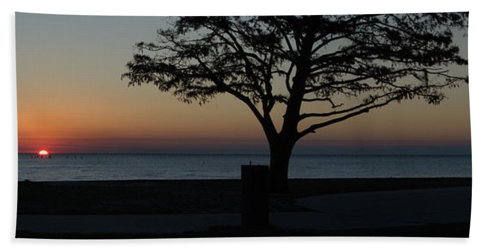 Sunset Hand Towel featuring the photograph A November Sunset by Anthony Walker Sr