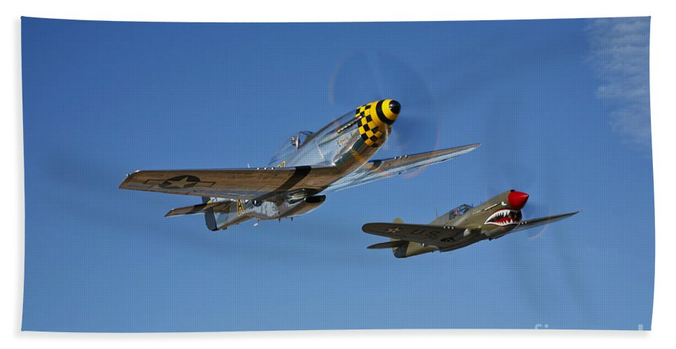 Horizontal Bath Sheet featuring the photograph A P-51d Mustang Kimberly Kaye by Scott Germain
