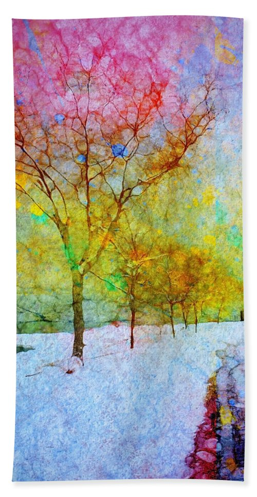 Trees Bath Sheet featuring the photograph A Painted Winter by Tara Turner