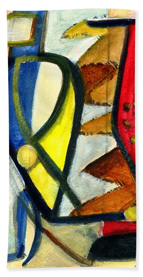 Abstract Art Hand Towel featuring the painting A Perfect Image by Stephen Lucas