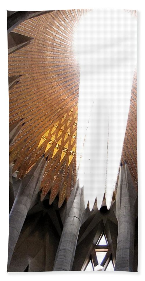 Sagrada Fam�lia Hand Towel featuring the photograph The Light Of Heaven On Earth by Jennifer Wheatley Wolf