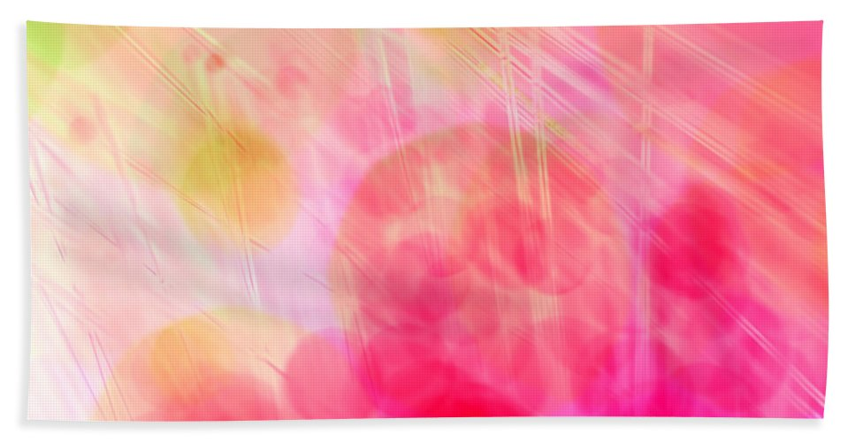 Abstract Hand Towel featuring the photograph A Pink Dream by Dazzle Zazz
