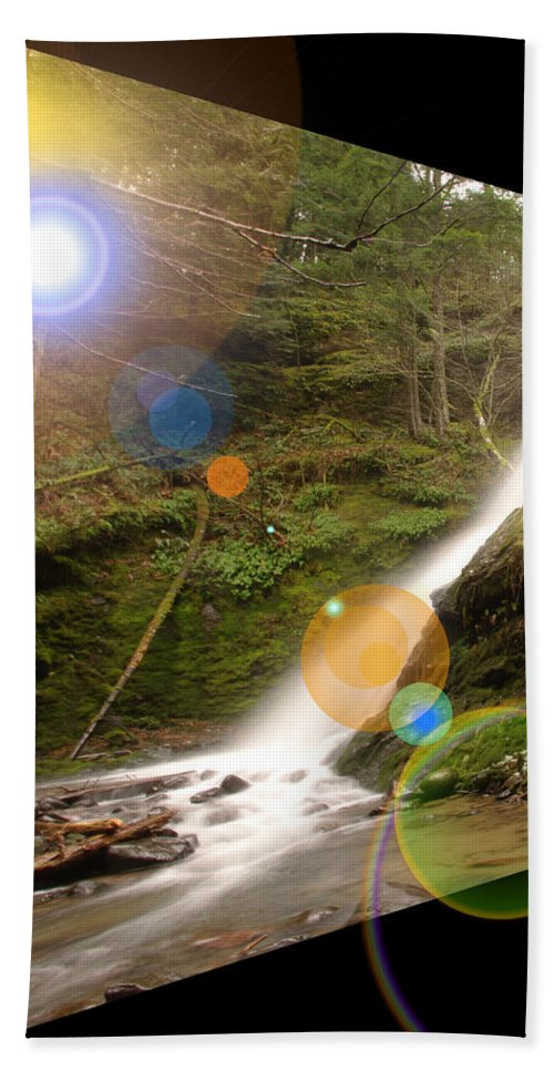 Waterfalls Bath Sheet featuring the photograph A Place To Day Dream by Jeff Swan