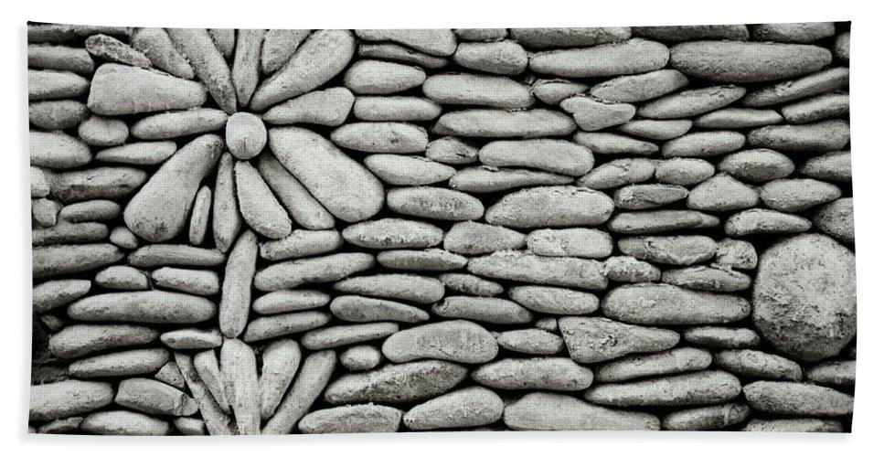 Bali Bath Sheet featuring the photograph A Plant In The Wall by Shaun Higson